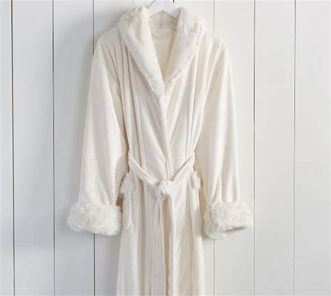 pottery barn robe faux fur robe pottery barn