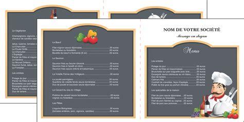 cuisiner les poivrons dépliant 2 volets 4 pages modèle et exemple menu restaurant restaurant français