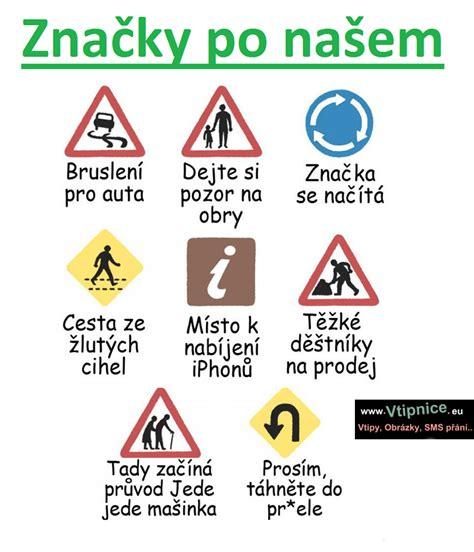 Srandovní obrázky - Značky po našem | Vtipnice.eu