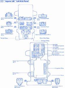 Toyota Supra 1995 Left Kick Panel Fuse Box  Block Circuit Breaker Diagram