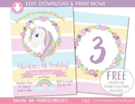 unicorn invitation template free unicorn invitation unicorn invite magical rainbow
