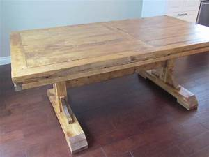 DIY Custom Distressed Farmhouse Dining Table With Double