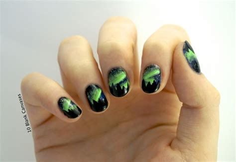 northern lights nails  blank canvases