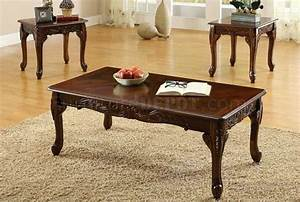 Cm4914 cheshire coffee table 2 end tables in cherry for Cherry coffee table and end tables