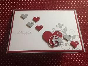 Geburtstagskarten Basteln Ideen : stampin up karte hochzeit geburtstagskarten mit herzen selber machen pinterest ~ Watch28wear.com Haus und Dekorationen