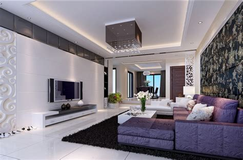 modern home: Purple living room furniture ideas