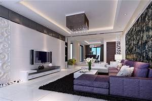 Modern home purple living room furniture ideas for Living room ideas and designs