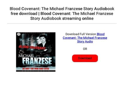 Blood Covenant: The Michael Franzese Story Audiobook free ...