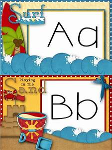 12 best images about classroom themes beach on pinterest With beach themed letters