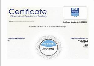 pat test certificate template excel recommendation With pat testing certificate template