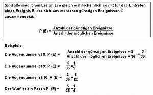 Wahrscheinlichkeit Berechnen : w rfeln mit 2 w rfeln landesbildungsserver baden w rttemberg ~ Themetempest.com Abrechnung