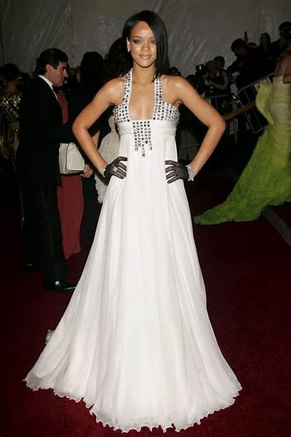 Rihanna Gala 2007 Carpet Dresses Costume Institute
