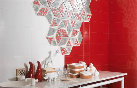 Porcelanite Tile Denia Rojo by Creative Modern Kitchen Wall Ideas