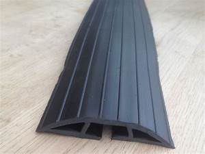 Bimi extra long 2m black rubber floor cable wires safety for Wire covers for floor