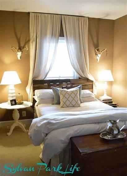 Bed Bedroom Window Master Furniture Headboard Against