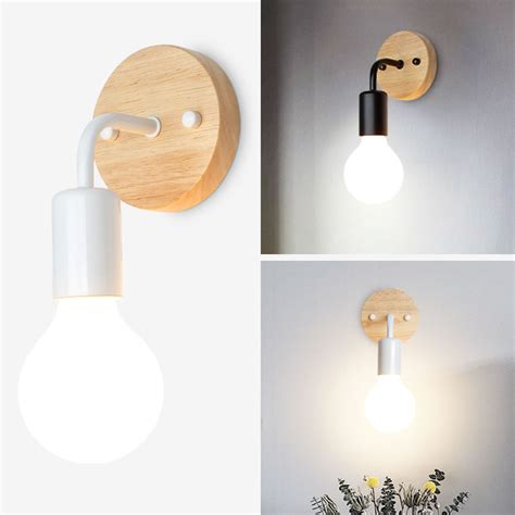 industrial wall light wood wall l wall sconce bedside