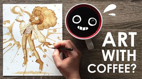 This is a fine art giclée print made from my original watercolor painting. PAINTING with COFFEE - YouTube