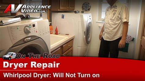 whirlpool gewpw dryer diagnostic  repair   turn  belt switch appliance video