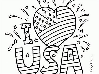Coloring Memorial Pages Printable Usa Independence Getdrawings