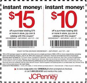 jcpenney coupons in store coupon code printable 2016