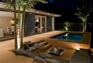 amenagement de jardin et terrasse moderne en 42 photos With amenagement petit jardin avec terrasse et piscine 0 reussir lamenagement dun jardin avec piscine