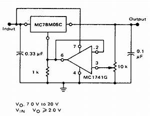 Adjustable Output Regulator Circuit Diagram