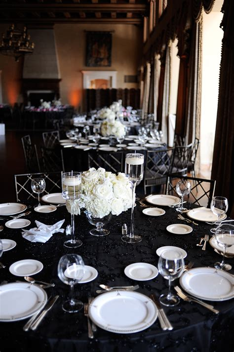black and silver wedding reception classic black and white wedding reception roschelle