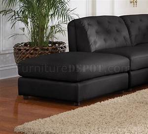 quinn sectional sofa 6pc black bonded leather 551031 coaster With quinn sectional sofa