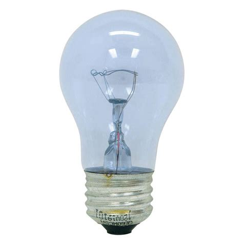 reveal light bulbs ge reveal 40 watt incandescent a15 ceiling fan clear light