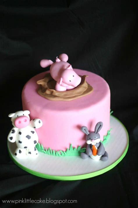 pink  cake cake topper techniques fondant animals