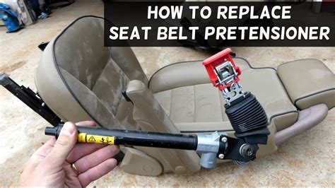 replace seat belt pretensioner youtube