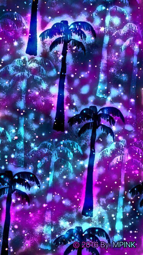 galaxy palm trees wallpaper wallpapers galaxy