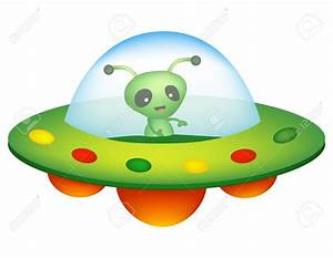 UFO clipart object - Pencil and in color ufo clipart object