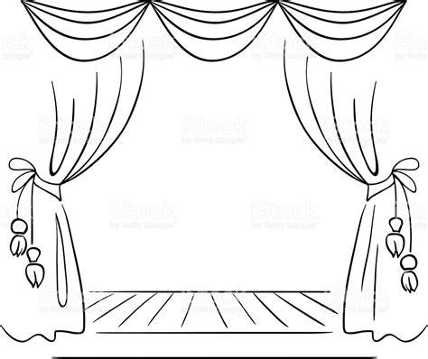 dessin rideau de theatre sc 232 ne de th 233 226 tre vecteur croquis stock vecteur libres de droits 482509983 istock