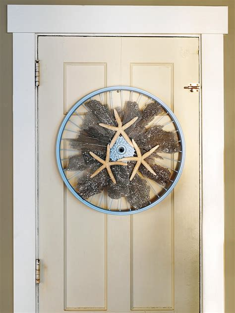 wreath   bicycle wheel coral
