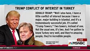 Trump cited Turkey 'conflict of interest' in Bannon interview