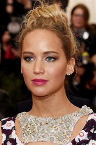 Jennifer Lawrence Bun Hairstyle