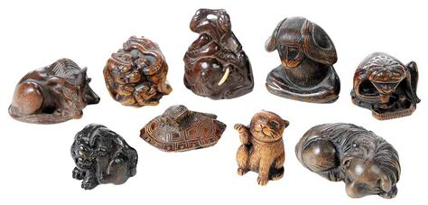 Modeled after a traditional netsuke, a small japanese figurine, our cat netsuke is irresistibly adorable. Brunk Auctions