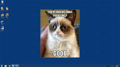 Helpdesk Desktop Cat Grumpy Funny Forever
