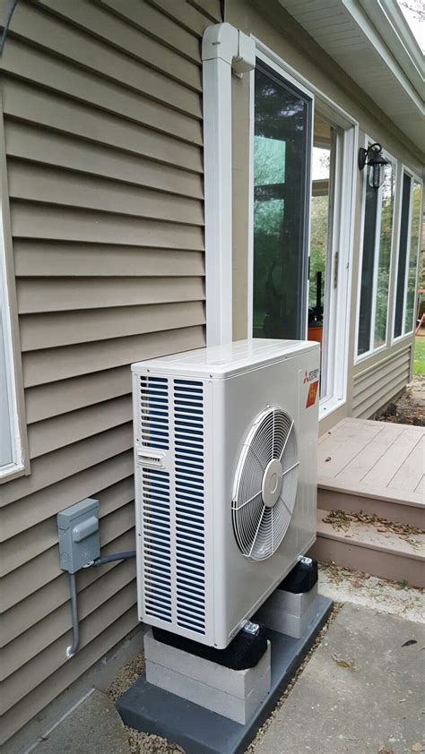 fh mitsubishi ductless heating  cooling system