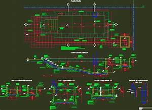 Swimming Pool Structural Design Swimming Pool Details In Autocad Drawing Bibliocad Style