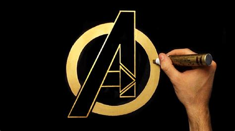 How To Draw Gold Avengers Logo