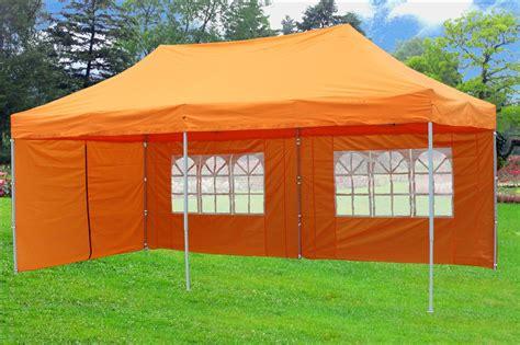 pop  canopy party tent ez orange  model upgraded frame ebay