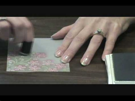 embossing  coloring vellum card stock youtube