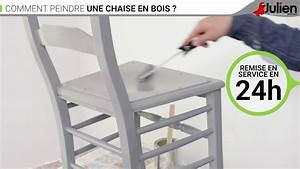 Comment peindre une chaise en bois peintures julien for Meuble salle À manger avec chaise paille