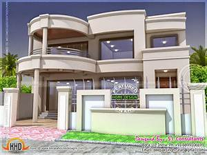 Stylish Indian home design and free floor plan