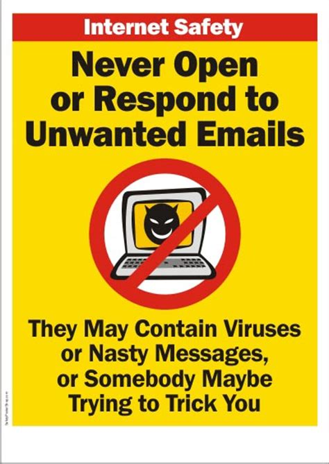 internet safety unwanted emails safety poster shop