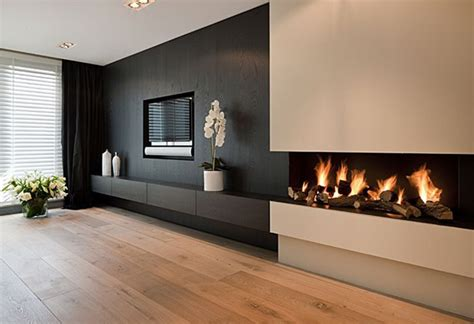 tv and fireplace modern tv wall with fireplace