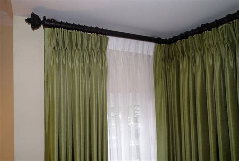 corner curtain rods for windows home design ideas
