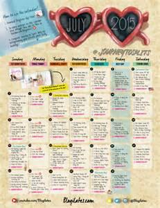 Blogilates Workout Calendar July 2015